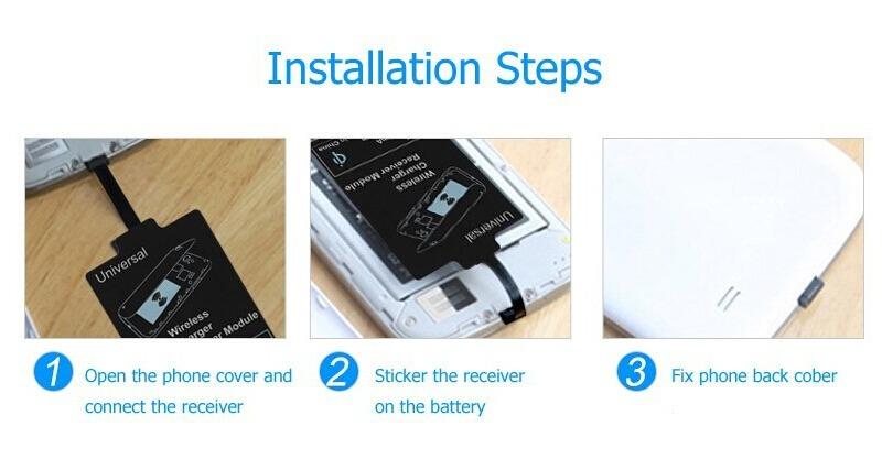 Universal Qi Wireless Charger Receiver Charging Adapter ArduinoTech