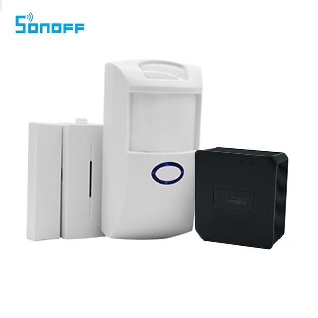 Groovy Sonoff PIR2 PIR Sensor and DW1 Door And Window Alarm Sensor MB69